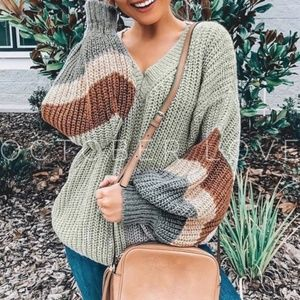 V-NECK GREY AND MULTI COLOR SWEATER